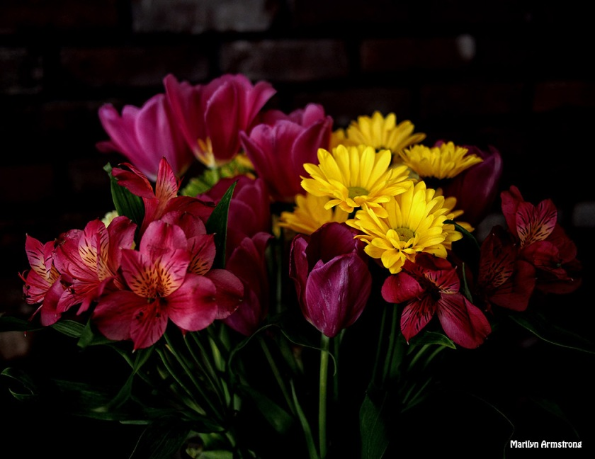 Spring come inside as a bouquet of bright blooms