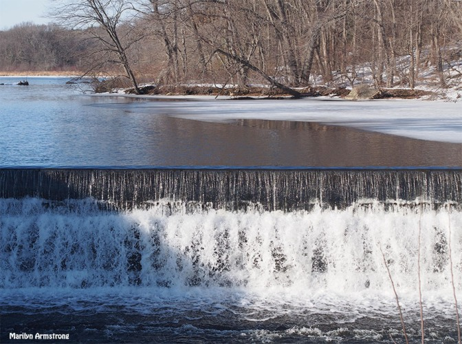 mid-march at the dam
