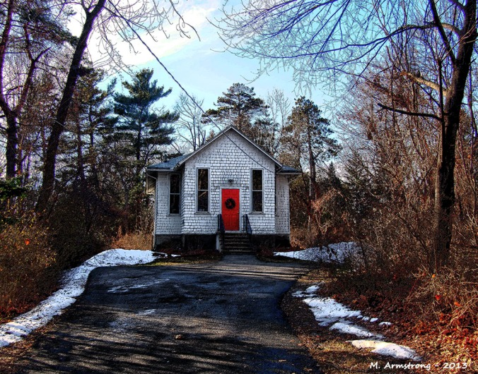 Tiny old church in Amherst, Massachusetts