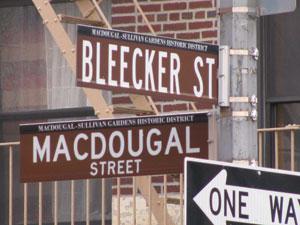 Bleecker and MacDougal