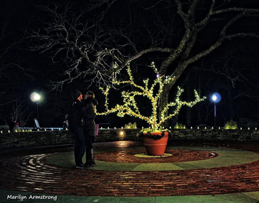 Dancing in the dark in winter
