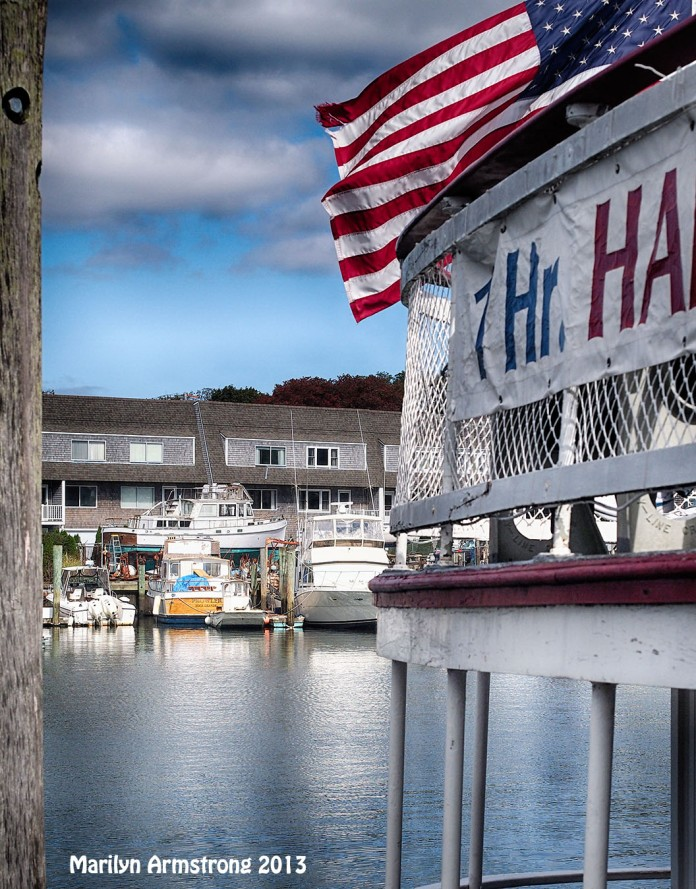 Hyannisport flag on boat