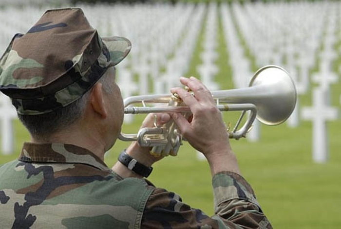Taps at St. Avold cemetary, France