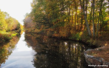 Between the banks of the blackstone canal