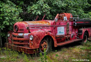 old number 2 fire engine truck