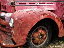 old number two fire engine wheel