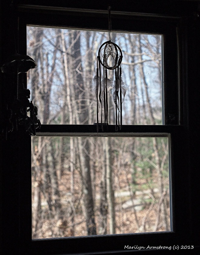 dream catcher garry office window
