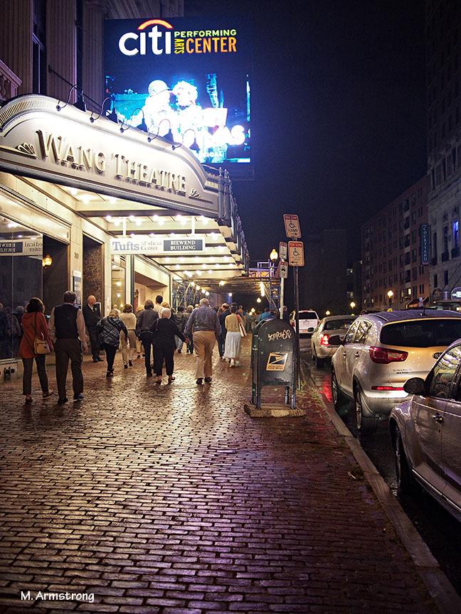 wang theater boston night