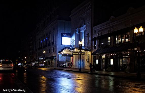 Night near the theaters