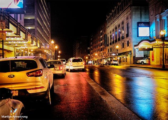 theater district boston night