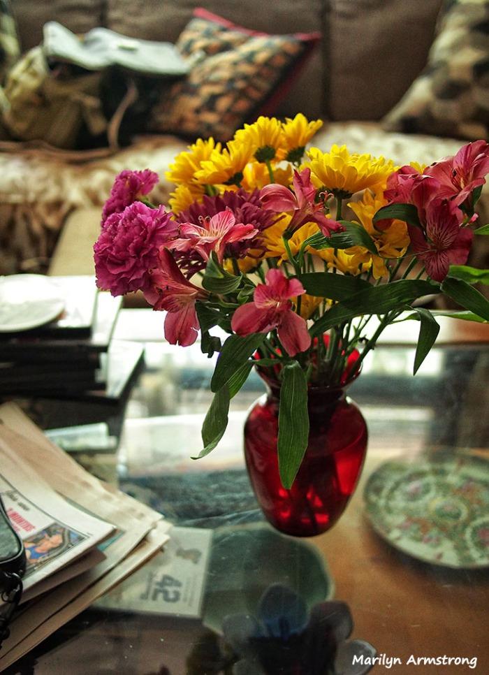 bouquet living room flowers september summer