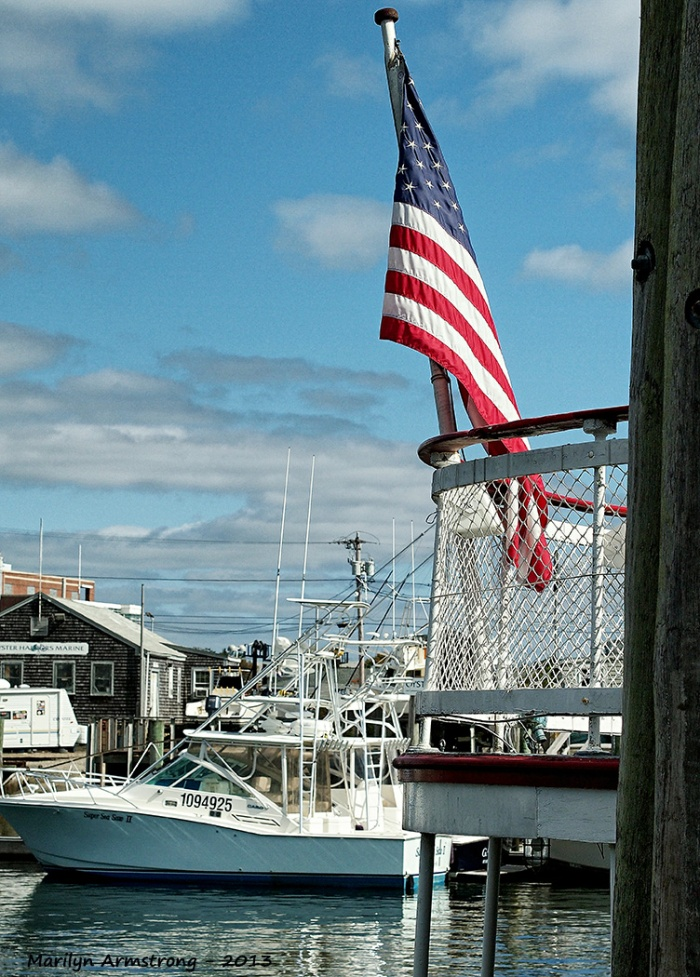 hyannis boat flag harbor