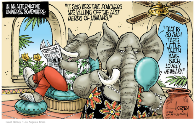 elephant poachers cartoon