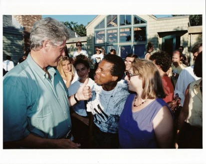 Garry and Marilynwith President Clinton's party on Martha's Vineyard