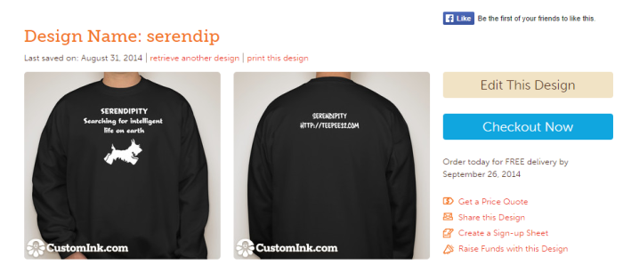 serendip on customink