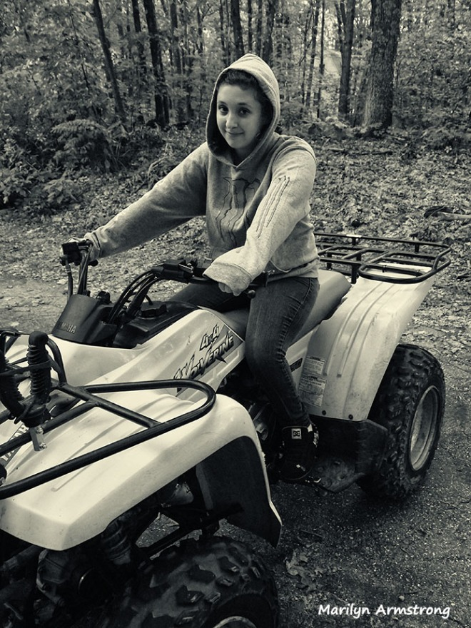 Kaity with ATV