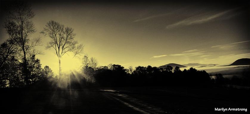 Sunrise in Peachem ... a toned monochrome