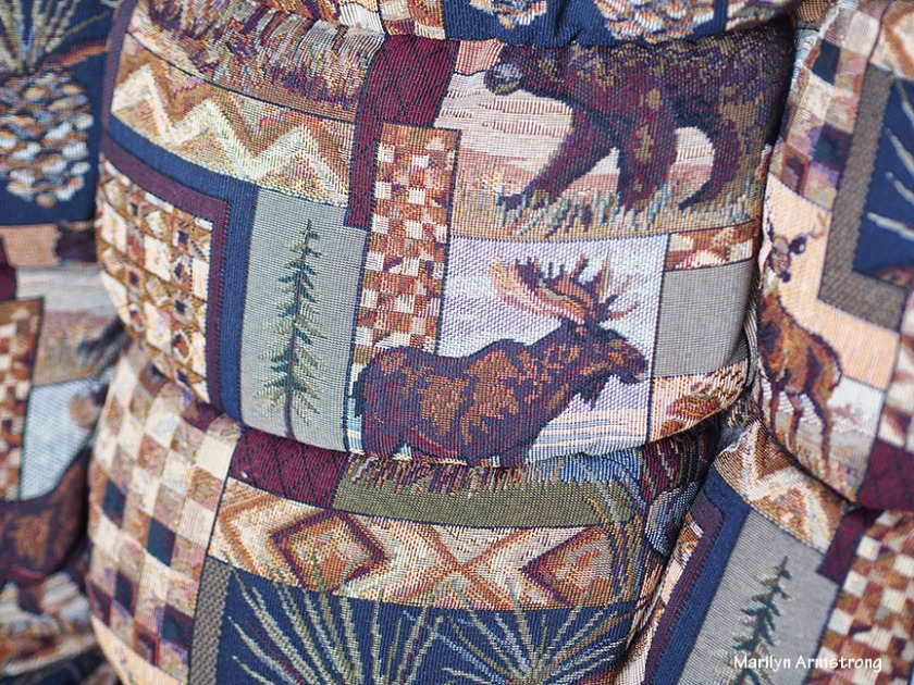 Moose-themed upholstery