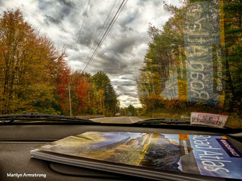 The road and an atlas