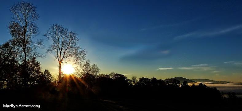 Twilight over the hills, Peacham, Vermont