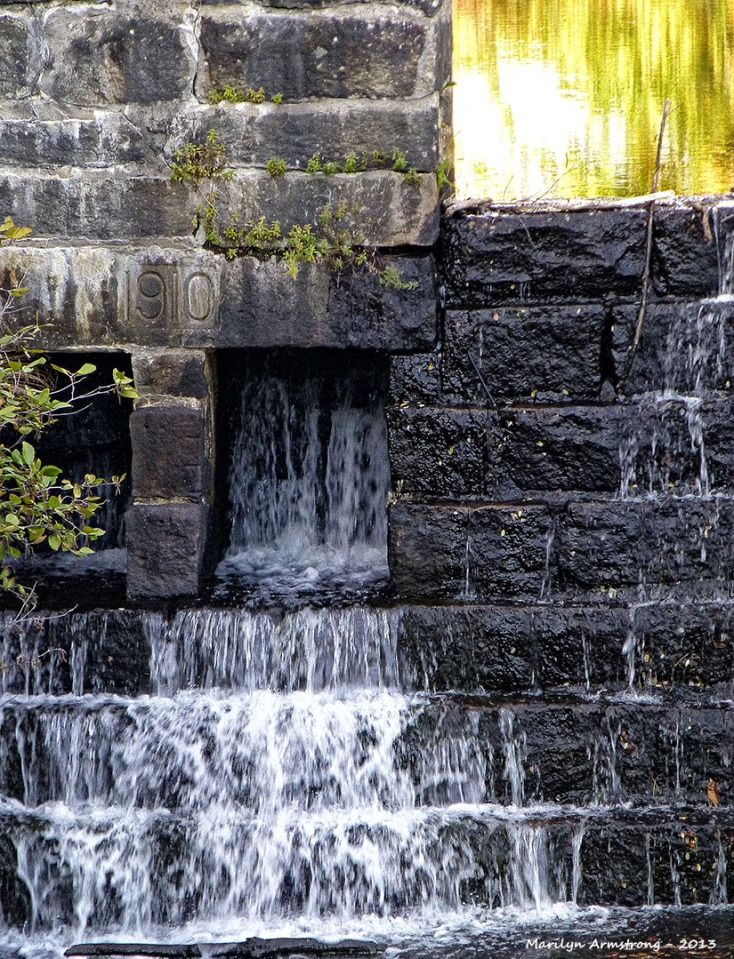 Dam wall in the middle of town