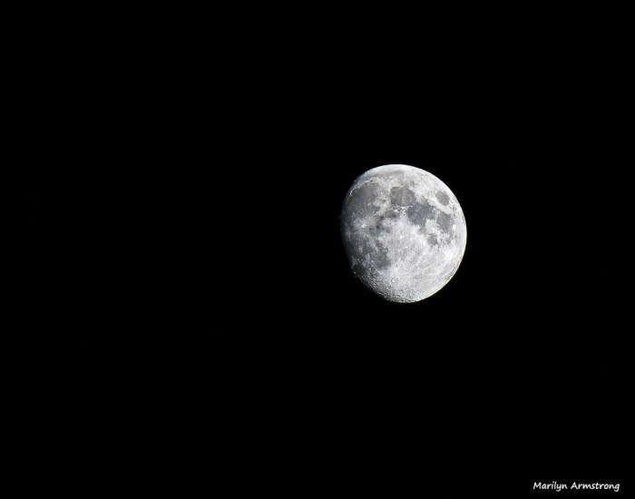 Perfectly gibbous moon