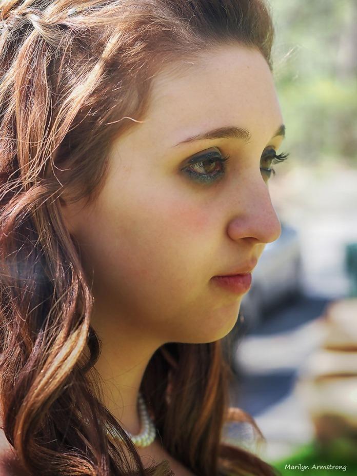 Granddaughter Kaity in profile