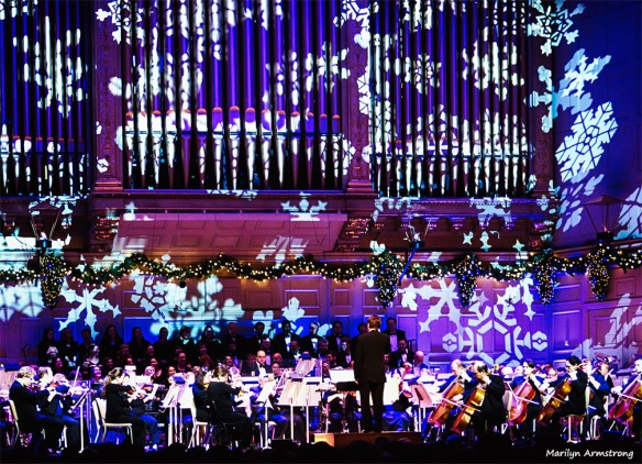 """The classic performance of """"Sleigh Ride"""" brought the audience to its feet"""