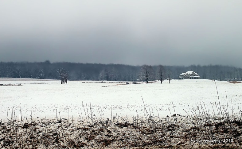 snowy field in Hadley