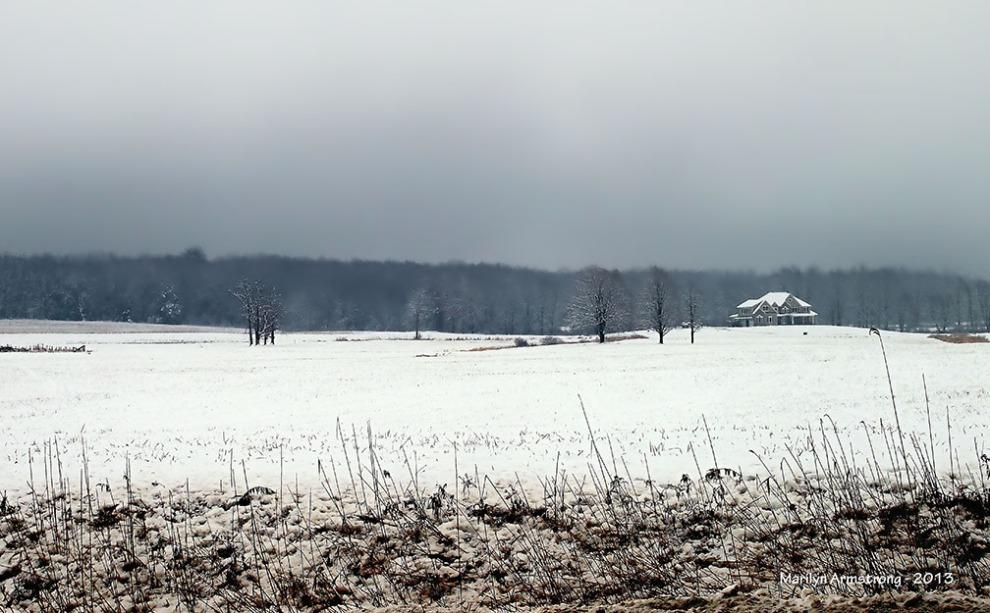 snowy field in Hadley