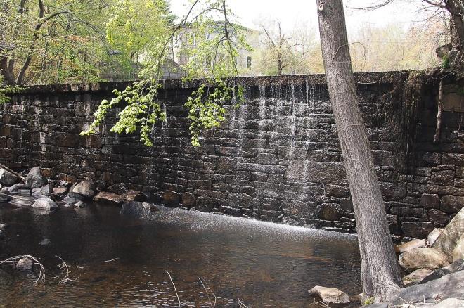 April at Manchaug falls