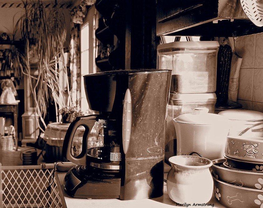 coffee kitchen view sepia art effect