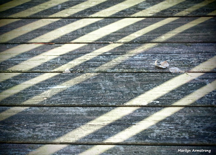 striped shadows on the deck