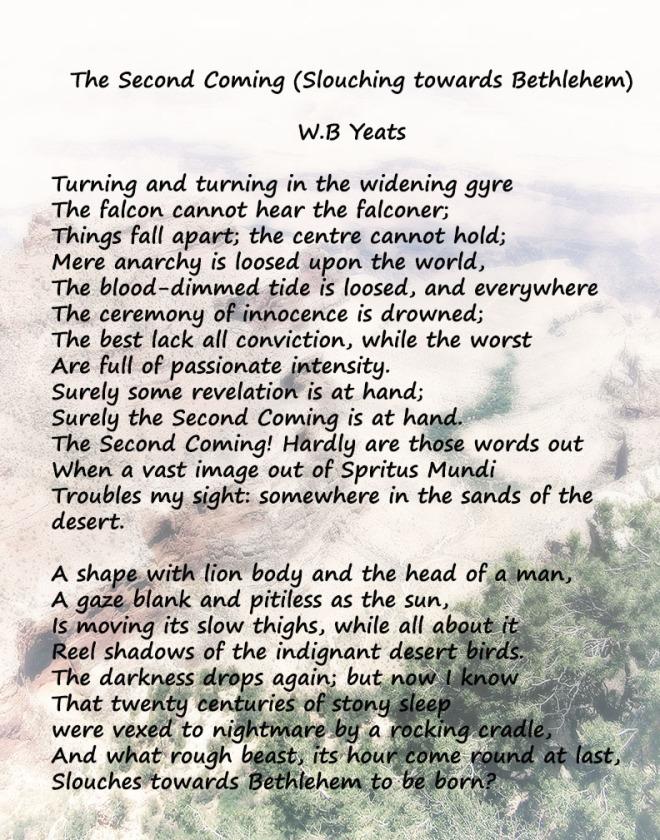 slouching towards bethlehem yeats poetry
