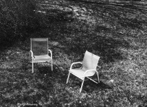 chairs from above Black and White