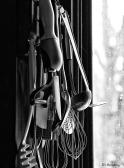 kitchen utensils BW