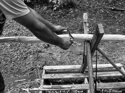 construction BW teepee poles
