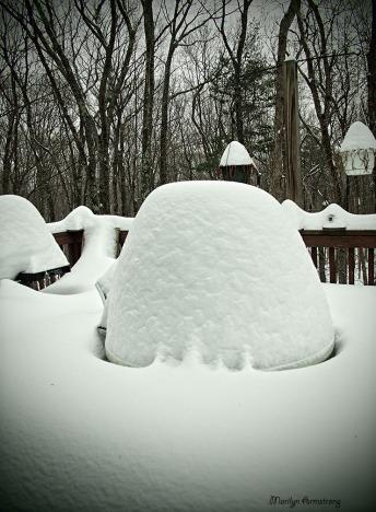 winter snow deck