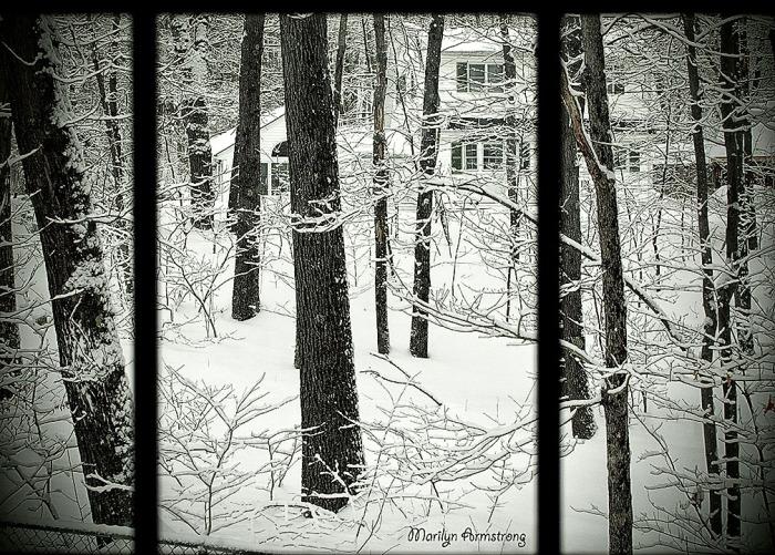 picture window art snow OO