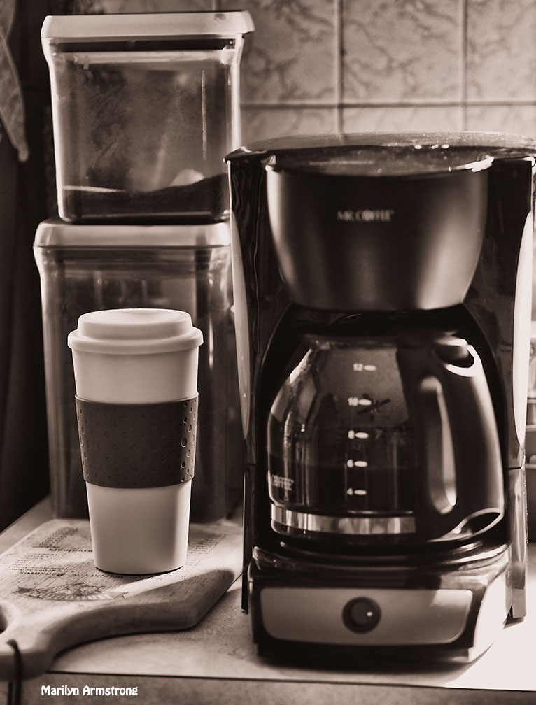sepia monochrome coffee kitchen
