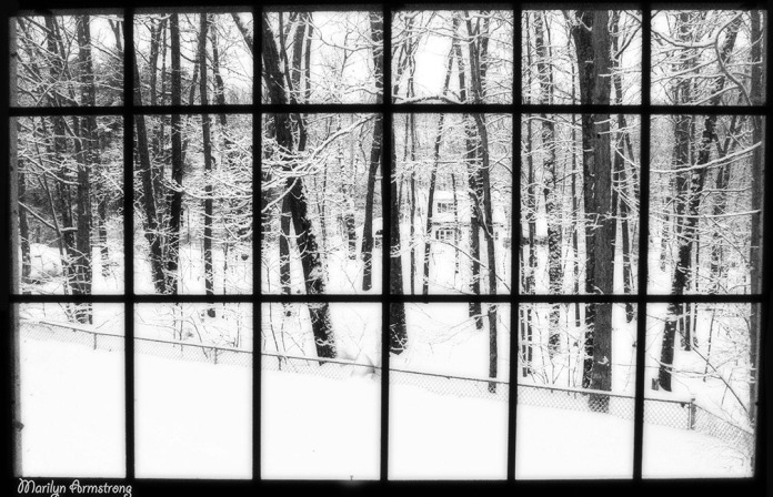 snow view picture window front