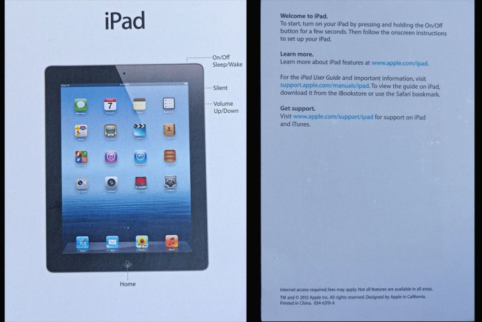 These are ALL the instructions that came with my Apple iPad.