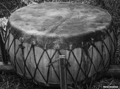 Native American Drum BW Powow