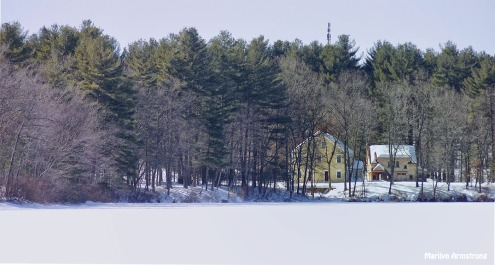 Whitins Pond, snow-covered