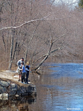 Kids fishing in the river. I wish we had a river!