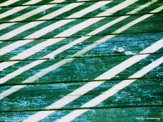 striped deck green