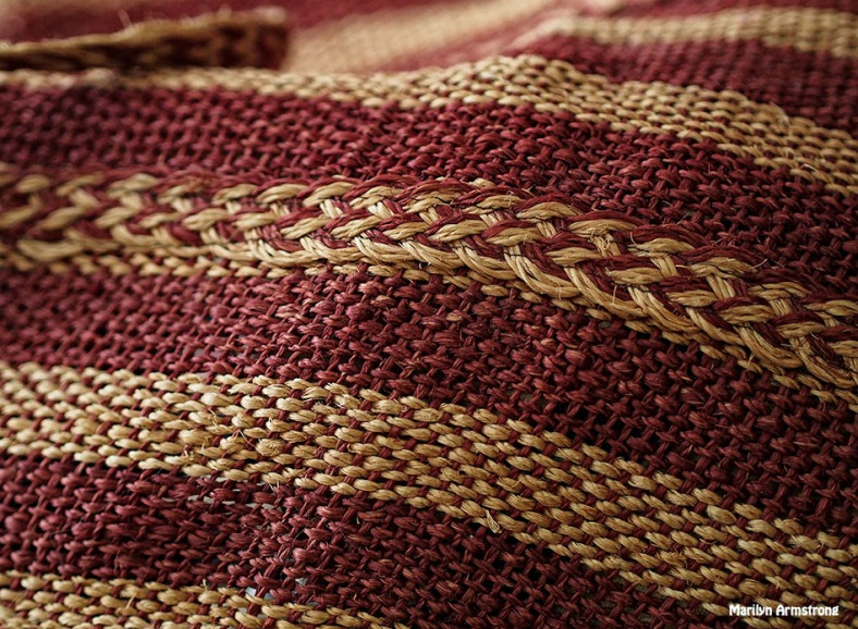 Indonesian striped basket