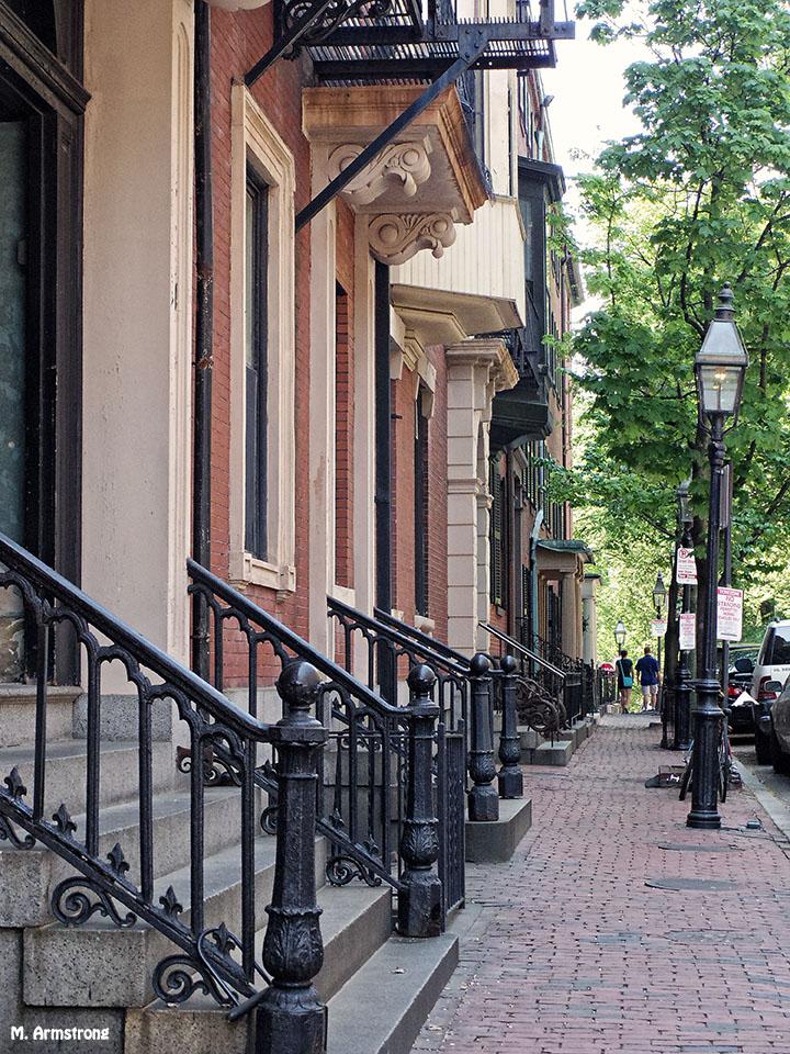 Stoops on Beacon Hill, Boston