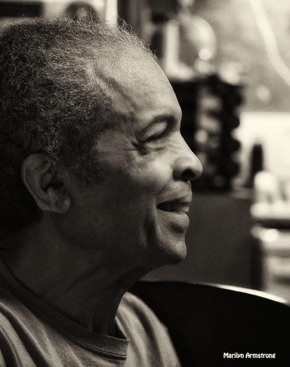 Garry black and white portrait 2