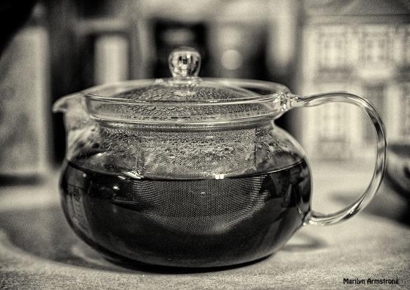 bw glass tea pot teapot